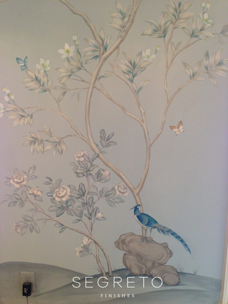 Segreto Finishes Marie Flanigan Mural Dining Room