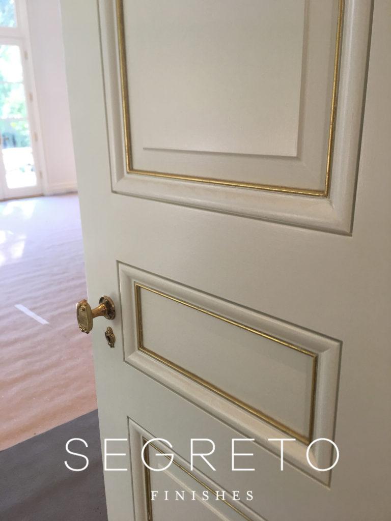 Segreto Finishes Door Gold Leaf