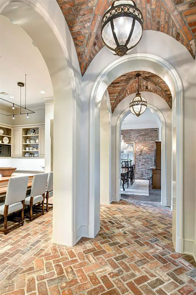 reclaimed brick groin vaulted ceiling