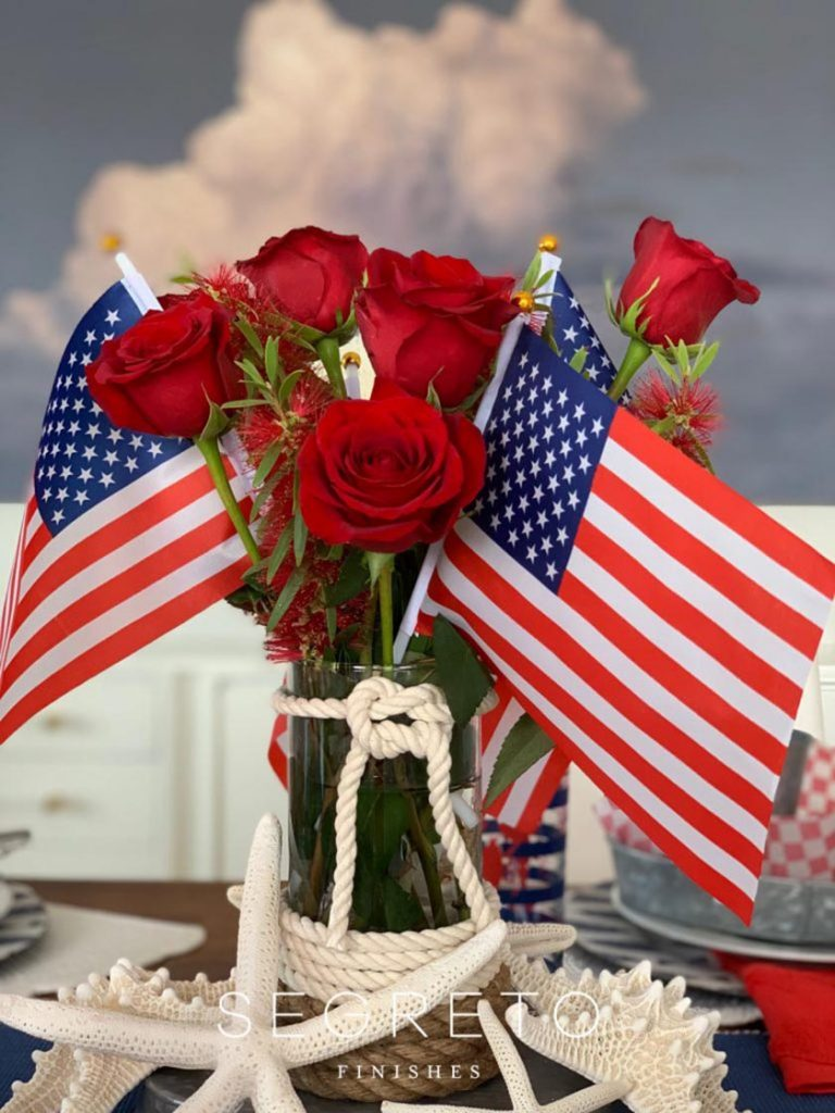 flags & flowers for the 4th