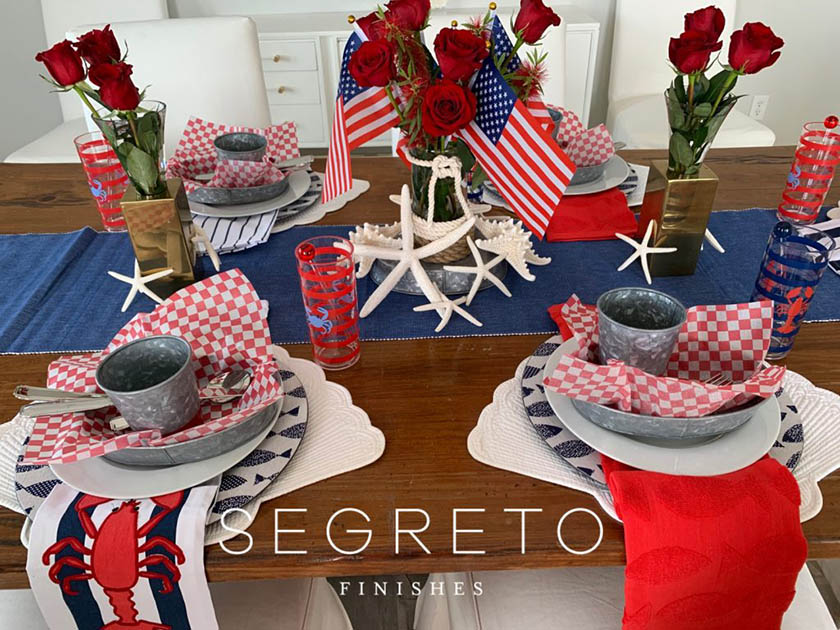 4th of July Galveston themed tablescape
