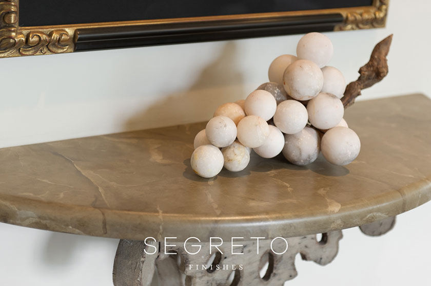 marbleized wooden tabletop