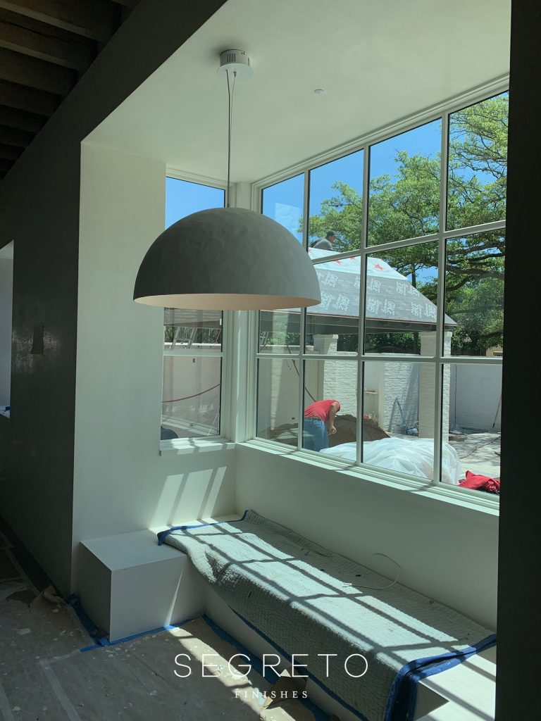 plastered light fixture