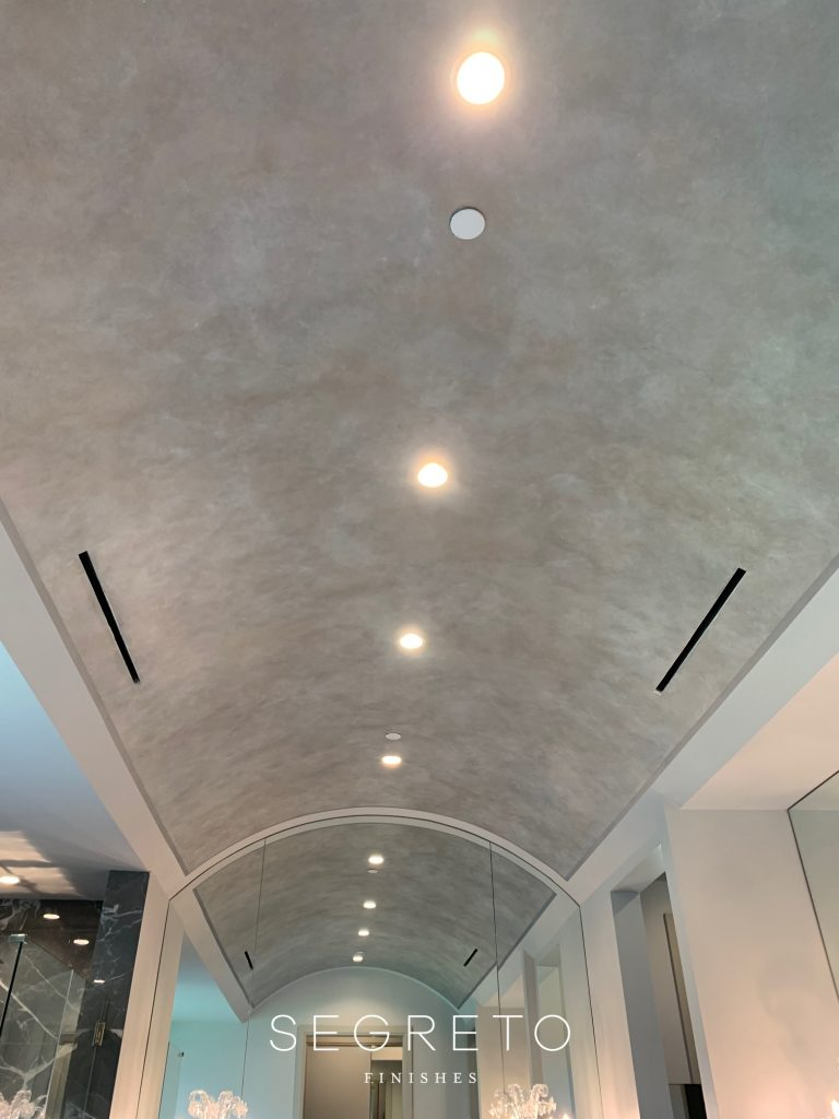 Metallic glazed ceiling