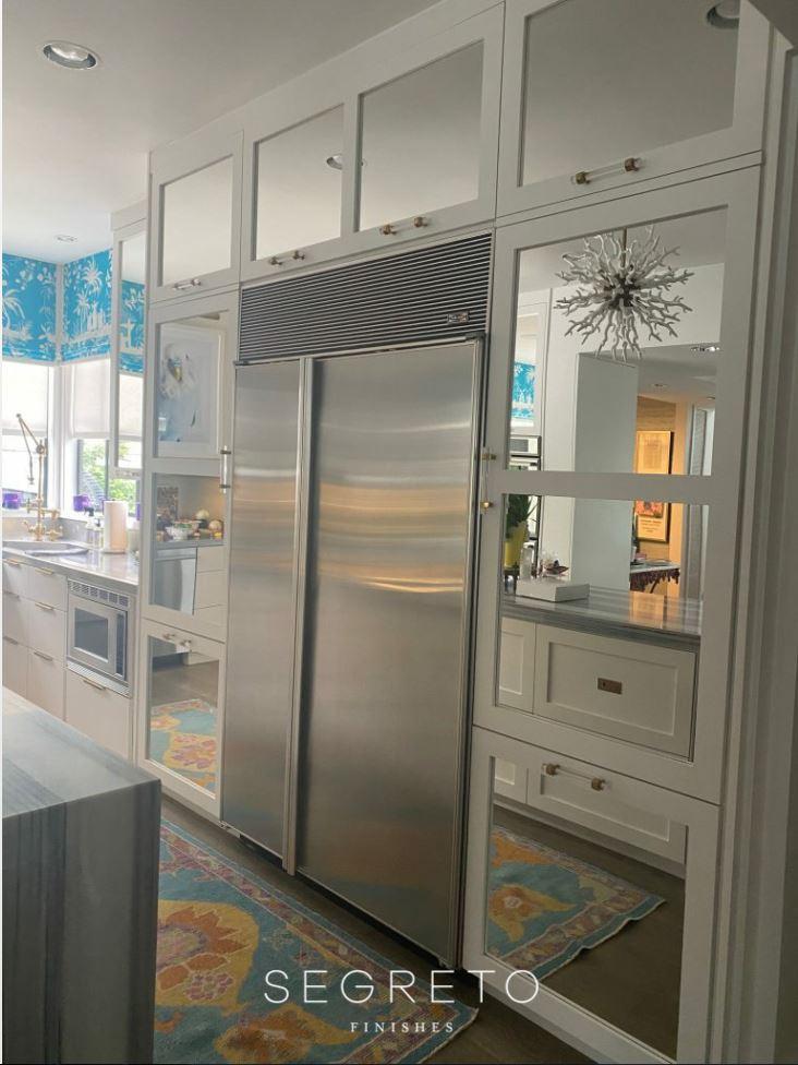 Kitchen with sub zero fridge before