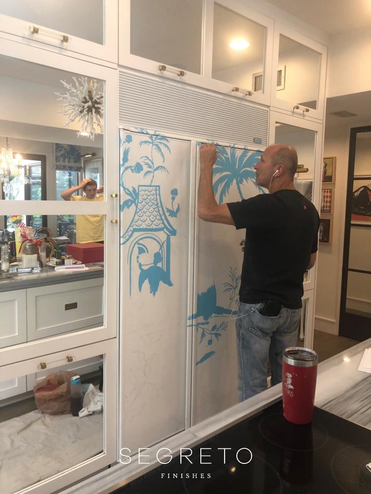 Kitchen fridge during