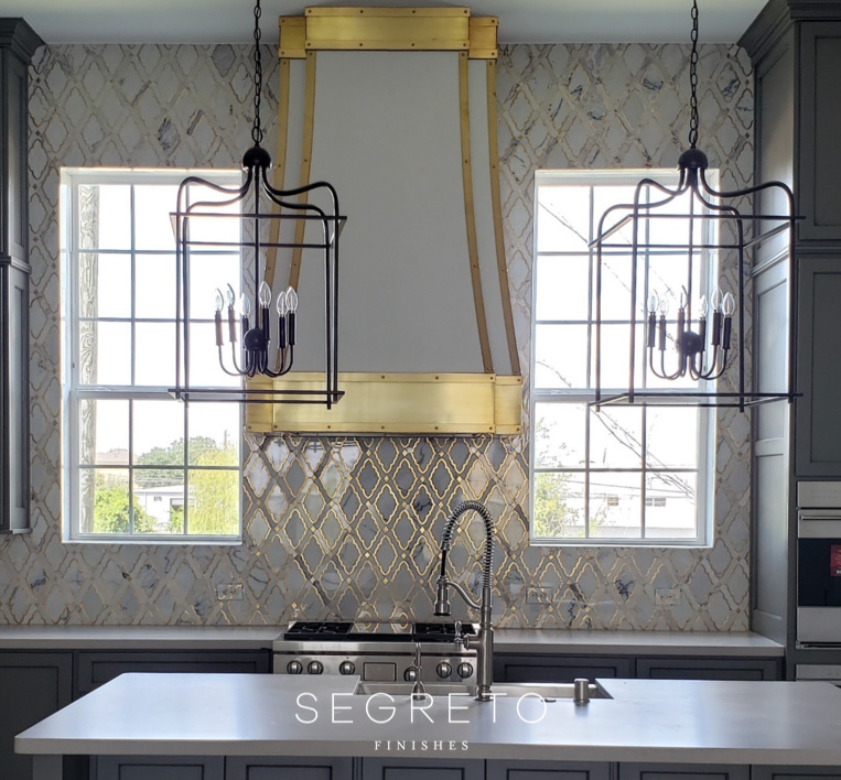 Kitchen with a glam feel