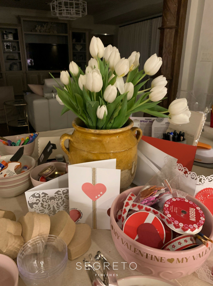 Valentine's Day Craft Table