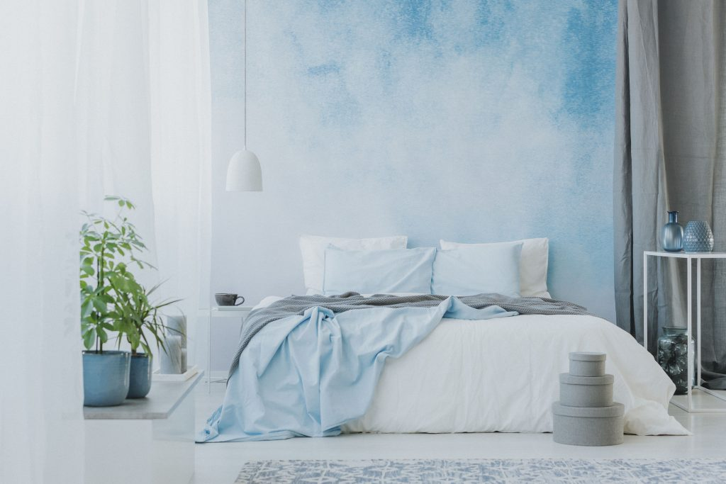Ombre on walls- ragged effect