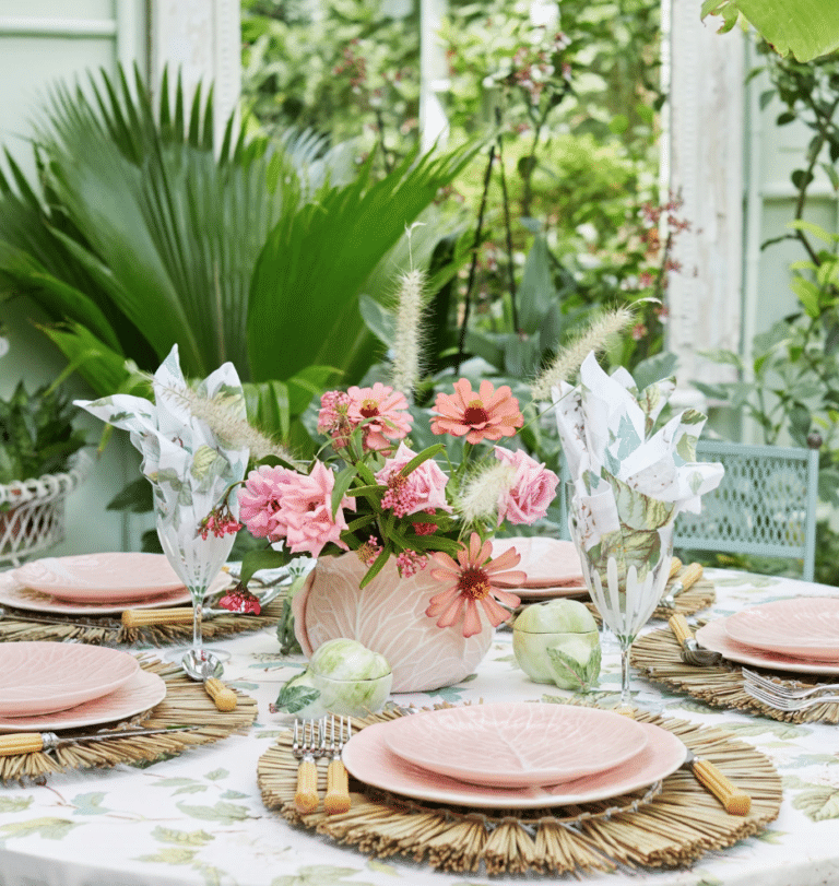 Pink Easter Table Setting