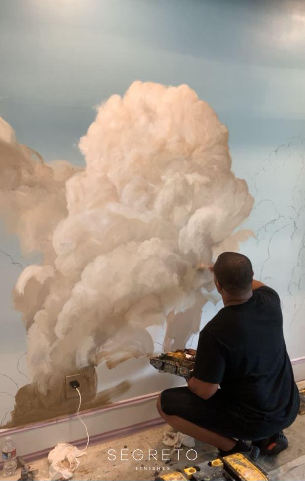 Cloud Mural - dimension of cloud