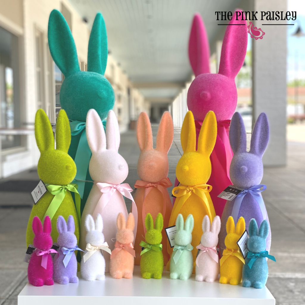 Colorful Flocked Bunnies