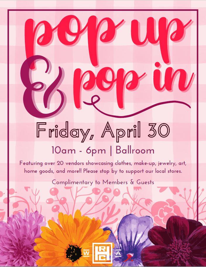 Spring Pop Up Flyer