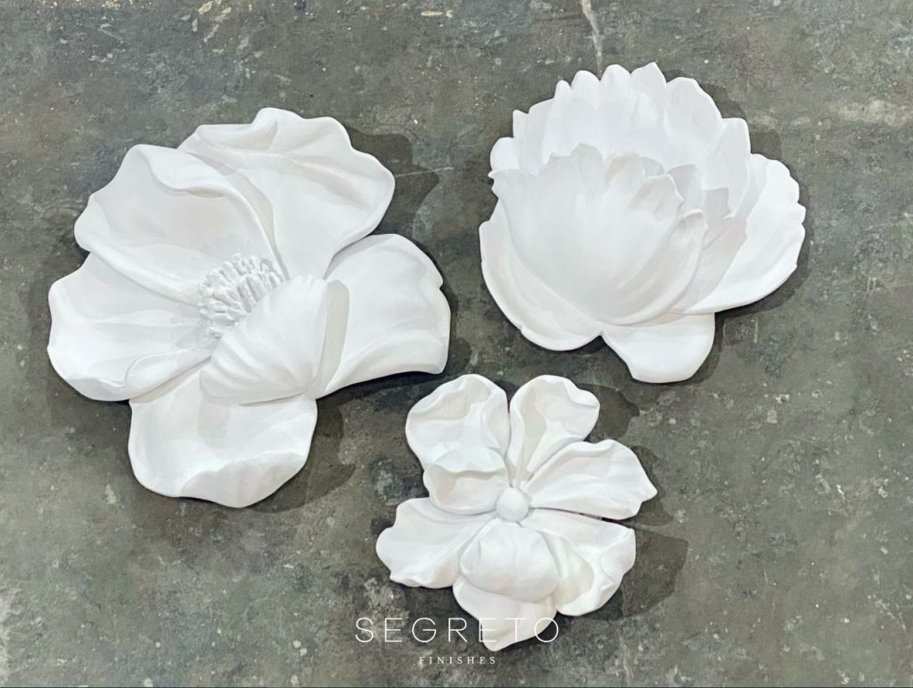 Large Scaled Plaster Flowers