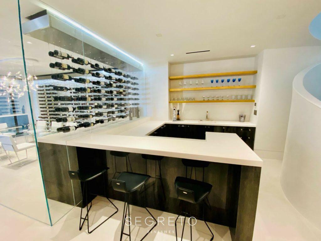 Segreto Plaster and Segreto Stone Bar