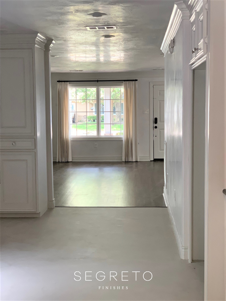 kitchen and  entry way after