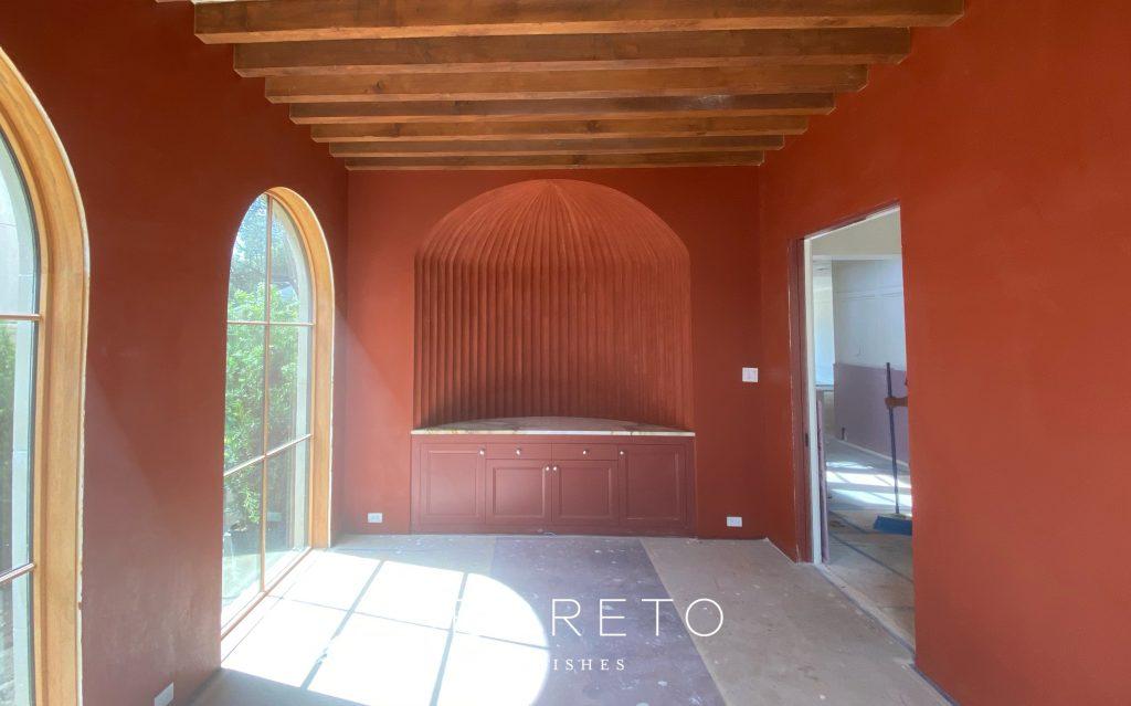 Terracotta fluted plaster
